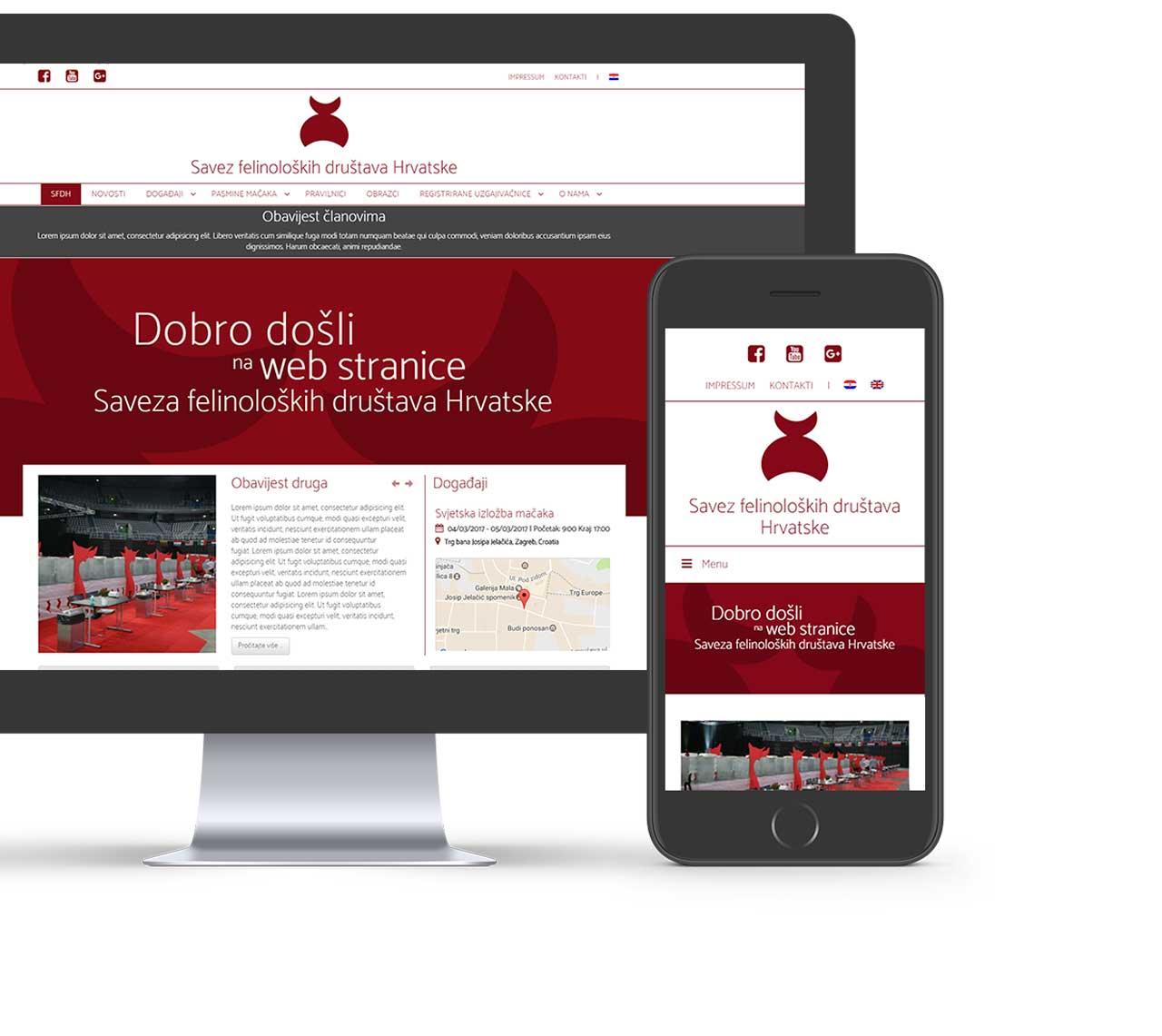 Web page mockup