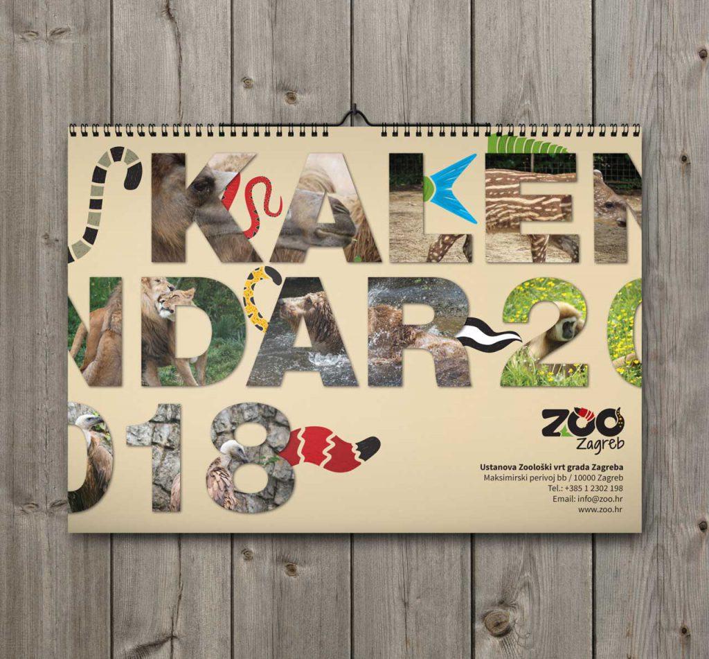 Kalendar ZOO 2018 Naslovna stranica