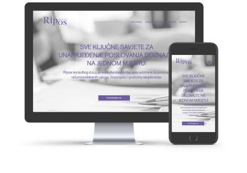 Ripos konzalting web stranica